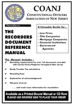 COANJ Reference Manual