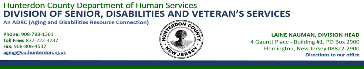 Hunterdon County Division of Senior, Disabilities and Veterans Services
