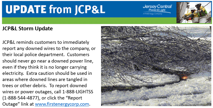 JCP&L Storm Updates and Reports
