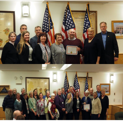 RCE Members Honored by Freeholders February 2018