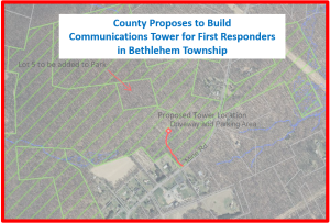 County Proposes to Build Communications Tower for First Responders in Bethlehem Township